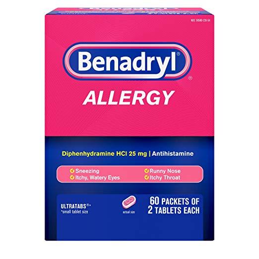 Dog Allergies Tips + Dog Benadryl Dosage Chart dog Benadryl dosage chart