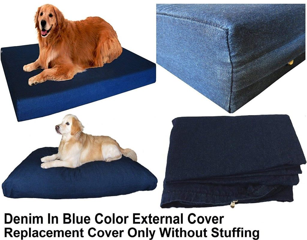 Heavy Duty Navy Blue Denim Jean Dog Pet Bed